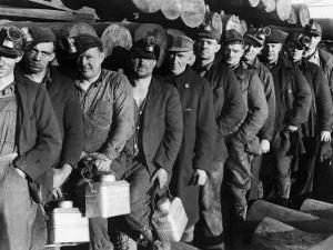 Anthracite Coal Miners Coming Out of Powderly Mine by Margaret Bourke-White