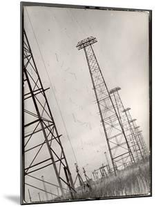 AT&T Long Line Towers That Connect to South America Spreading Out Across the State by Margaret Bourke-White
