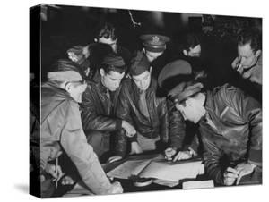 B-17 Bomber Navigators of the 8th Bomber Command at Airdrome in Southern England by Margaret Bourke-White