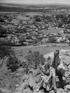 Bamangwato Tribal Chief Seretse Khama with Wife Ruth, Tribal Capital of Bechuanaland by Margaret Bourke-White