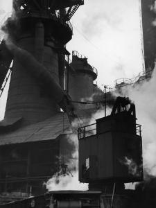 Blast Furnace at Jones and Laughlin Steel Plant by Margaret Bourke-White