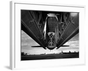 Bomb Bay Doors of B36 Bomber, Part of the Strategic Air Command Forces Stationed at Carswell AFB by Margaret Bourke-White