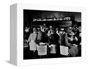 Celebrity Patrons Enjoying Drinks at This Speakeasy Without Fear of Police Prohibition Raids by Margaret Bourke-White