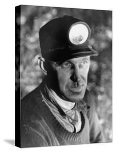 Close Up of Young Mining Foreman of English Descent in Tunnel of the Powderly Anthracite Coal Mine by Margaret Bourke-White