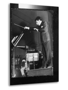 Conductor John Barbirolli Leading the New York Philharmonic by Margaret Bourke-White