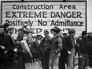 Construction Area: Extreme Danger, Positively No Admittance, Keep Out, at Grand Coulee Dam by Margaret Bourke-White