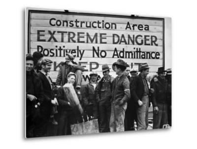 Construction Area: Extreme Danger, Positively No Admittance, Keep Out, at Grand Coulee Dam