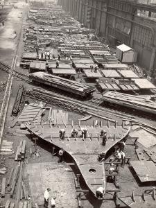 Construction Yard of Bethlehem Ship Building Corp. Where Frames and Bulkheads are Preassembled by Margaret Bourke-White