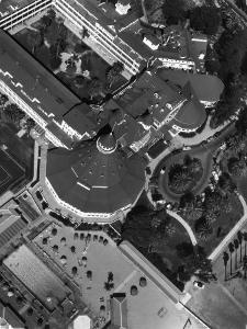 Coronado Hotel and Surrounding Grounds and Swimming Pool Area by Margaret Bourke-White