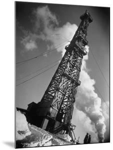 Creditul Minier Oil Well Watched over by Armed Guards 17 Kilometers from Ploesti in a Oil Field by Margaret Bourke-White