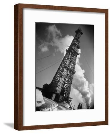 Creditul Minier Oil Well Watched over by Armed Guards 17 Kilometers from Ploesti in a Oil Field