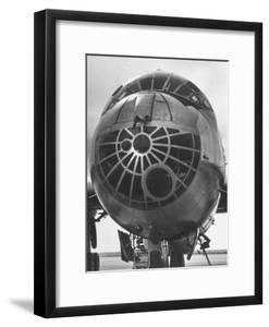 Detailed Close Up of Window of a B-36 Bomber Plane parked on Airfield at Sac's Carswell AF Base by Margaret Bourke-White