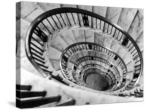 Elliptical Staircase in the Supreme Court Building by Margaret Bourke-White