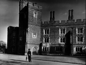 Eton Student Wearing Traditional Tails and Topper in Weston Yard Which Houses Seventy Scholars by Margaret Bourke-White