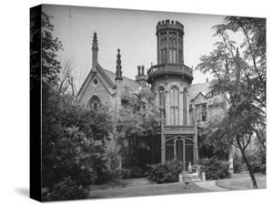 Exterior View of Gothic-Inspired House in the Hudson River Valley by Margaret Bourke-White
