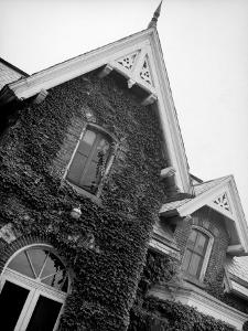 Exterior View of Ivy-Covered Brick House, Ustasia, in the Hudson River Valley by Margaret Bourke-White
