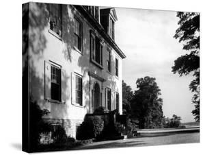 Exterior View of the Clermont Manor House, Owned by the Livingston Family, Hudson River Valley by Margaret Bourke-White