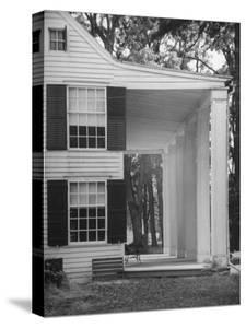 Exterior View of the House of Revolutionary War General Philip Schuyler, Hudson River Valley by Margaret Bourke-White
