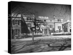 Exterior View of the Roosevelt Family Mansion, Birthplace of Pres. Franklin D. Roosevelt by Margaret Bourke-White