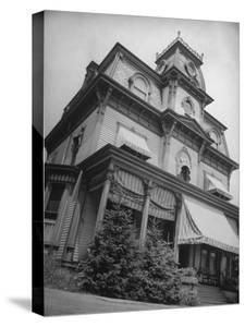 Exterior View of the Victorian-Style House of the Mansard Family in the Hudson River Valley by Margaret Bourke-White