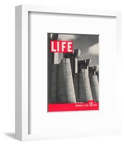 First LIFE Cover with Fort Peck Dam, November 23, 1936 by Margaret Bourke-White