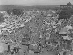 Five Million Indians Flee Shortly after the Newly Created Nations of India and Pakistan, 1947 by Margaret Bourke-White