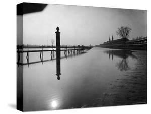 Flooded Race Track at Churchill Downs Submerged in Water from the Surging Ohio River by Margaret Bourke-White