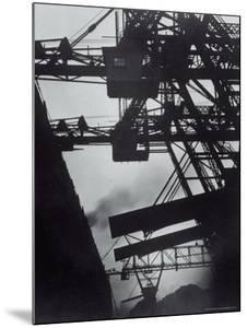 Freighter Berwind Unloading Coal at Great Lakes Pier by Margaret Bourke-White