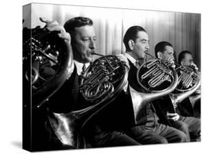 French Horn Players in the New York Philharmonic by Margaret Bourke-White