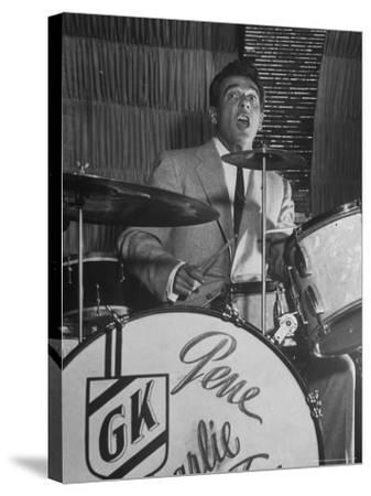 Gene Krupa, American Drummer and Jazz Band Leader, Playing Drums at the Club Hato on the Ginza