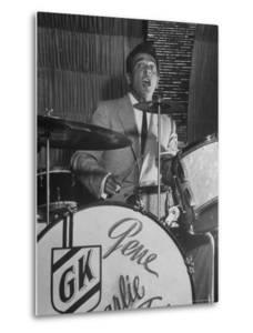 Gene Krupa, American Drummer and Jazz Band Leader, Playing Drums at the Club Hato on the Ginza by Margaret Bourke-White