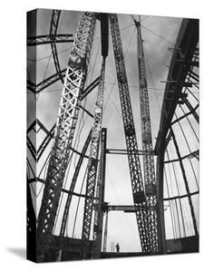 Girders Spanning Space in Dome Pattern, Construction of Palomar Telescope, Mt. Wilson Observatory by Margaret Bourke-White