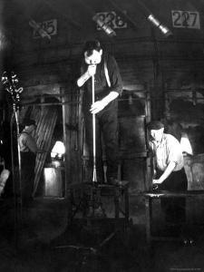 Glass Blowers at Work Developing Various Glassware at Corning Glass Plant by Margaret Bourke-White
