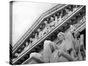 Guardian of Law, Statue Created by Sculptor James Earle Fraser Outside the Supreme Court Building by Margaret Bourke-White