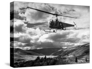 Helicopter Flying in Unidentified Location by Margaret Bourke-White