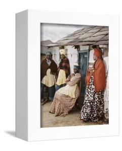 Herero Tribeswomen Wearing Turban and Dangling Earrings, Windhoek, Namibia 1951 by Margaret Bourke-White