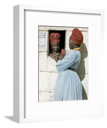 Herero Tribeswomen Wearing Turban and Dangling Earrings, Windhoek, Namibia 1953