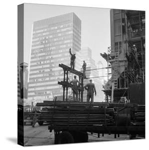 High Rise Construction of the Seagram Building on Park Avenue in Midtown by Margaret Bourke-White