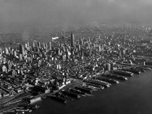 Hudson River Lined with the Docks and Piers of the Port of New York by Margaret Bourke-White