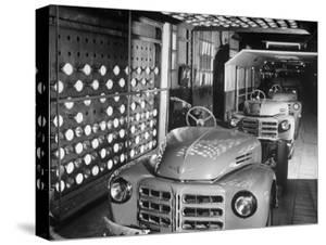 Japanese Cars on Assembly Line at Toyota Motors Plant by Margaret Bourke-White