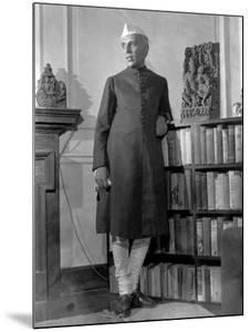 Jawaharlal Nehru, President of India's Congress Party, in His Library at Home by Margaret Bourke-White