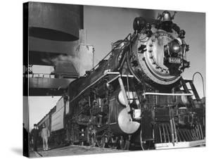 Locomotive of Train at Water Stop During President Franklin D. Roosevelt's Trip to Warm Springs by Margaret Bourke-White