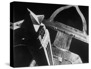 Looking Down on the San Jacinto Monument from a Helicopter by Margaret Bourke-White