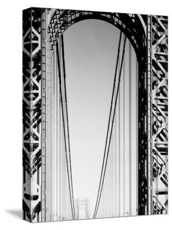 Looking Head on at Roadway of George Washington Bridge