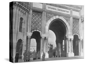 Magnificent Arches to the Entrance of the University of Istanbul by Margaret Bourke-White