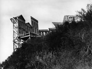 Movie Set Used in Production of Westerns Built on the Edge of a Hill of the Paramount Studios Ranch by Margaret Bourke-White