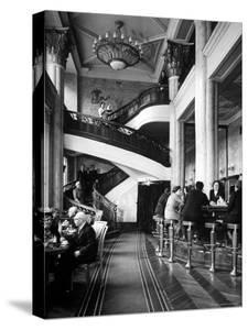 New Cocktail Hall on Gorky Street Where the Rich and Elite Can Experience a Pricey Cowboy Cocktail by Margaret Bourke-White