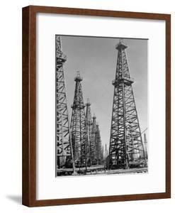Oil Well Rigs in a Texaco Oil Field by Margaret Bourke-White