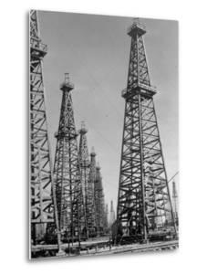 Oil Well Rigs in a Texaco Oil Field by Margaret Bourke-White