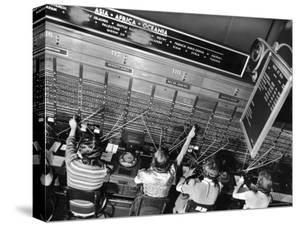 Operators on Transoceanic Switchboard at Long Distance Building of New York Telephone Co by Margaret Bourke-White